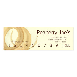 Mini Coffee Cup Stain Punchcard Double-Sided Mini Business Cards (Pack Of 20)