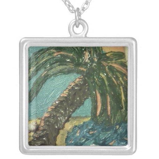 Mini collar de la pintura de la palmera