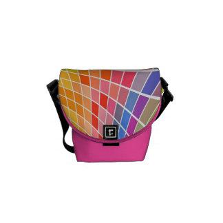Mini Colorful Squares Messenger Bag