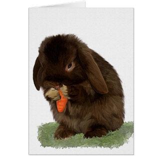 Mini conejito y zanahoria del Lop Felicitaciones