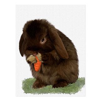 Mini conejito y zanahoria del Lop Postales