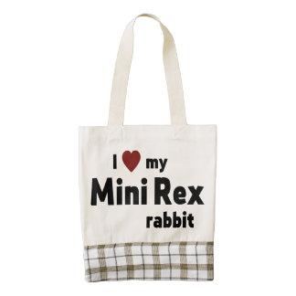 Mini conejo de Rex Bolsa Tote Zazzle HEART