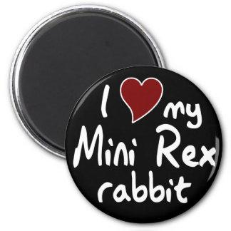 Mini conejo de Rex Imán Redondo 5 Cm