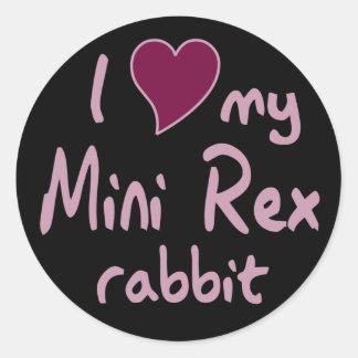 Mini conejo de Rex Pegatina Redonda