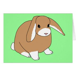 Mini conejo del Lop Tarjetón