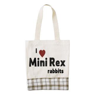 Mini conejos de Rex Bolsa Tote Zazzle HEART