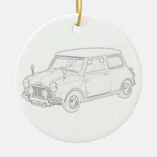Mini Cooper Ceramic Ornament
