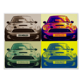 Mini Cooper collage (poster) Poster