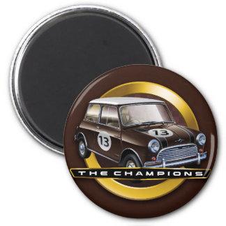 Mini Cooper S brown 2 Inch Round Magnet