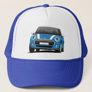 Mini Cooper S (F56) blue with white stripes Trucker Hat
