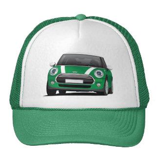 Mini Cooper S (F56) green with white stripes Trucker Hat