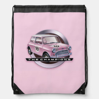 Mini Cooper S pink Drawstring Bag