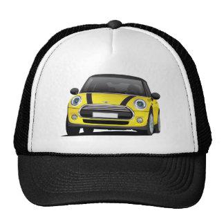 Mini Cooper S,  yello with black stripes Trucker Hat