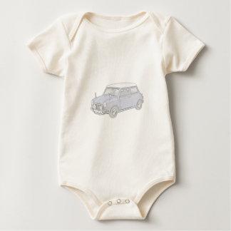 Mini Cooper Vintage-colored Baby Bodysuit