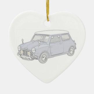 Mini Cooper Vintage-colored Ceramic Ornament