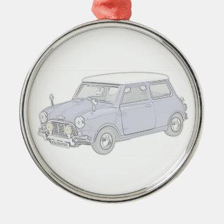 Mini Cooper Vintage-colored Metal Ornament