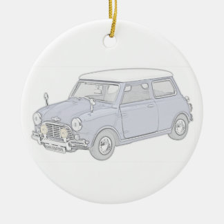 Mini Cooper Vintage-colored Christmas Tree Ornament