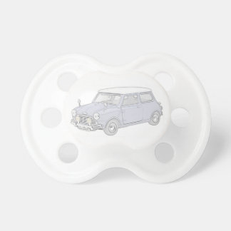 Mini Cooper Vintage-colored Pacifiers