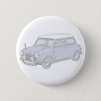 Mini Cooper Vintage-colored Pinback Button