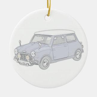Mini Cooper Vintage-coloreó Ornamento De Navidad