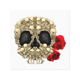 Mini cráneo del azúcar de los esqueletos lona estirada galerias