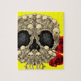 Mini cráneo del azúcar de los esqueletos puzzles