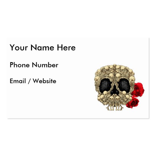Mini cráneo del azúcar de los esqueletos tarjetas de negocios