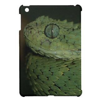 Mini cubierta del iPad de la víbora verde