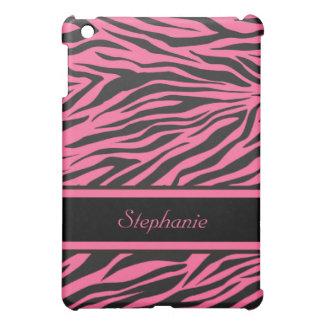 Mini cubierta del iPad rosado del estampado de zeb