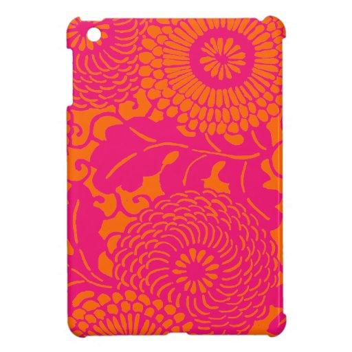 Mini cubiertas del iPad floral rosado y anaranjado iPad Mini Protector