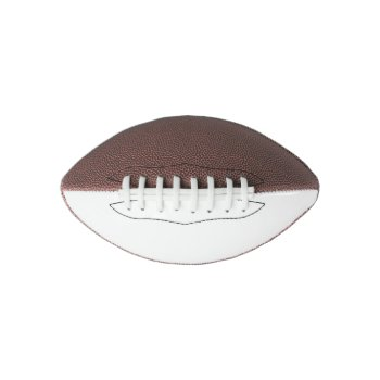 Mini Custom One Panel Football Customize by CREATIVESPORTS at Zazzle