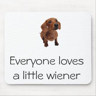 """Mini Dachshund """"Little Wiener"""" Mousepad"""