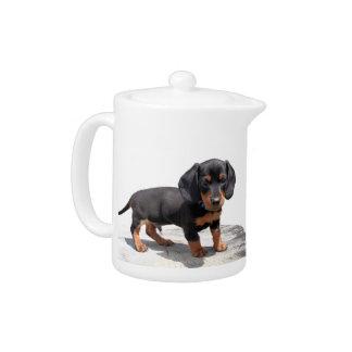 Mini Dachshund Puppy Teapot