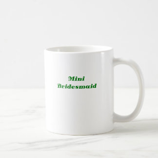 Mini dama de honor taza básica blanca
