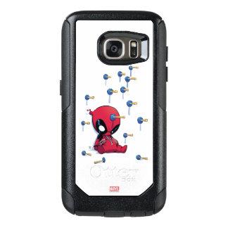 Mini dardos de la ventosa de Deadpool Funda Otterbox Para Samsung Galaxy S7