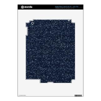 MINI DARK NAVY NIGHT BLUE GLITTER TEXTURE TEMPLATE iPad 3 SKIN