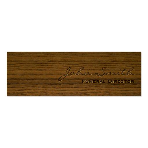 Mini Dark Wood Funeral Business Card