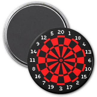 Mini Dartboard 3 Inch Round Magnet