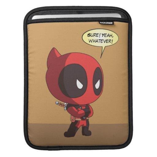 Mini Deadpool Arms Crossed iPad Sleeve
