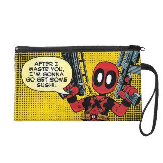 Mini Deadpool con los armas