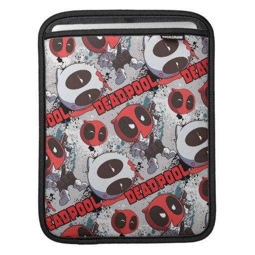 Mini Deadpool Imposter Pattern iPad Sleeve