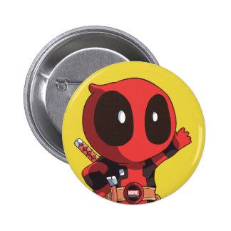 Mini Deadpool Pinback Button