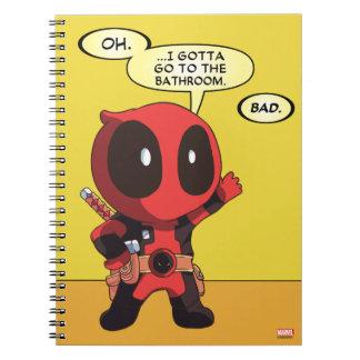 Mini Deadpool Spiral Notebook
