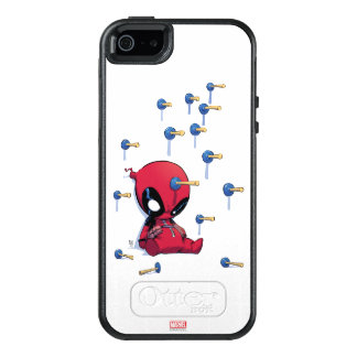 Mini Deadpool Suction Cup Darts OtterBox iPhone 5/5s/SE Case