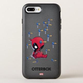 Mini Deadpool Suction Cup Darts OtterBox Symmetry iPhone 8 Plus/7 Plus Case