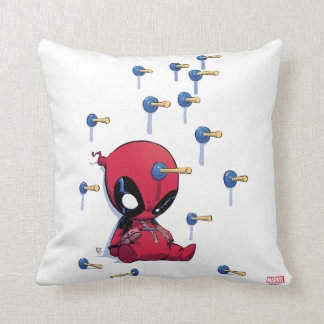 Mini Deadpool Suction Cup Darts Pillow