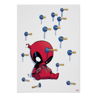 Mini Deadpool Suction Cup Darts Poster