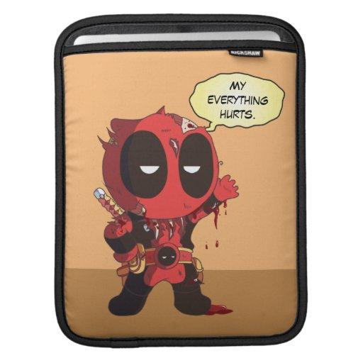 Mini Deadpool Survivor iPad Sleeve