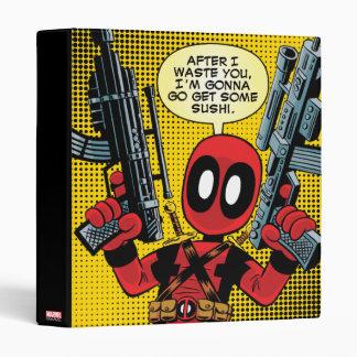 Mini Deadpool With Guns Binder