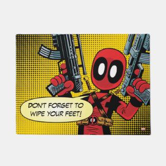 Mini Deadpool With Guns Doormat